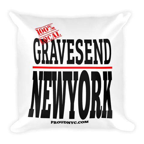 Gravesend Local Square Pillow