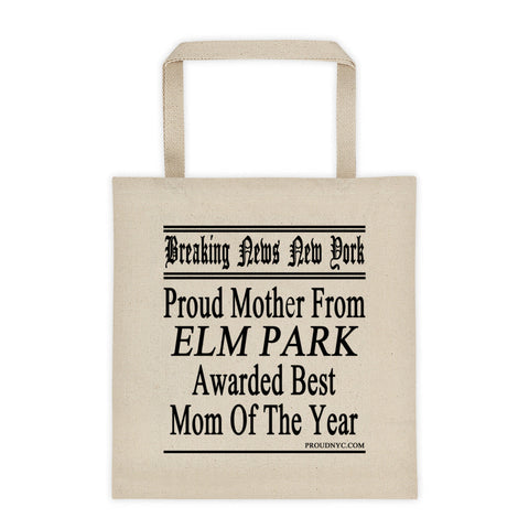 Elm Park Best Mom Tote bag
