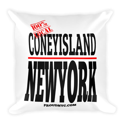 Coney Island Local Square Pillow
