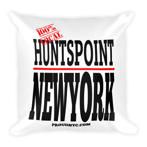Hunts Point Local Square Pillow