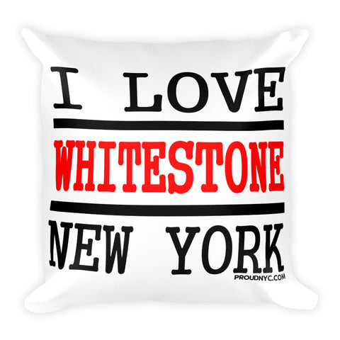 Whitestone Love Square Pillow