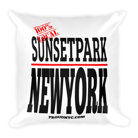 Sunset Park Local Square Pillow