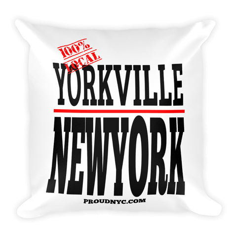Yorkville Local Square Pillow