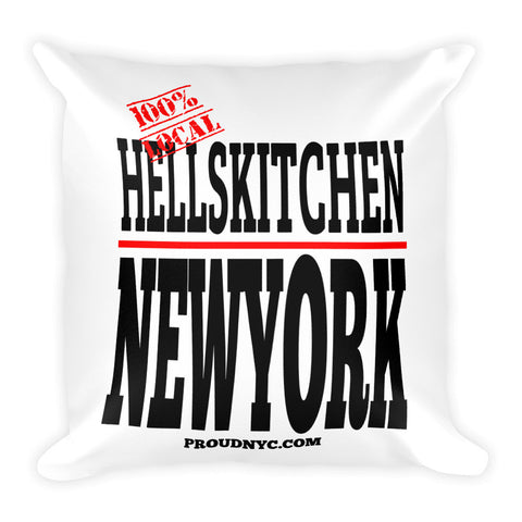 Hells Kitchen Local Square Pillow