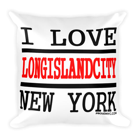 Long Island City Love Square Pillow