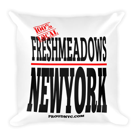 Fresh Meadows Local Square Pillow