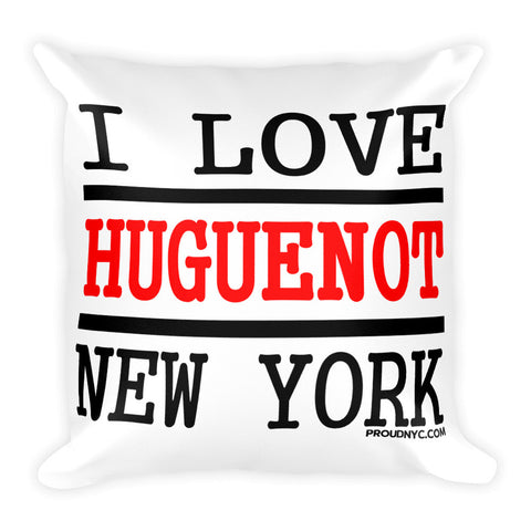 Huguenot Love Square Pillow