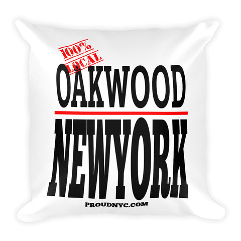 Oakwood Local Square Pillow