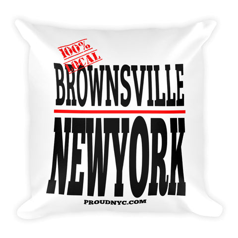 Brownsville Local Square Pillow