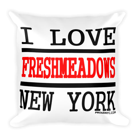 Fresh Meadows Love Square Pillow