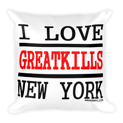 Great Kills Love Square Pillow