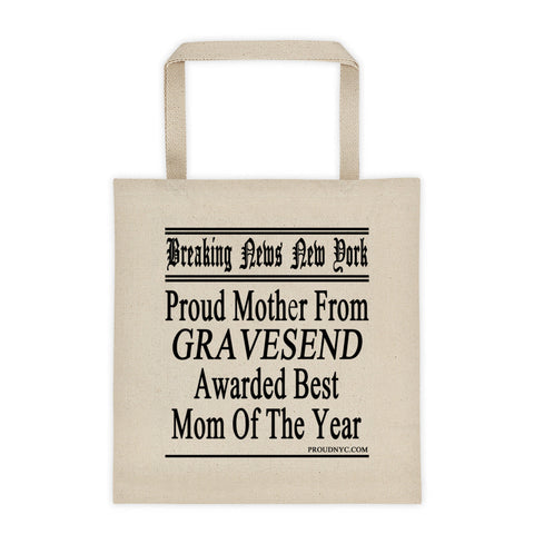 Gravesend Best Mom Tote bag