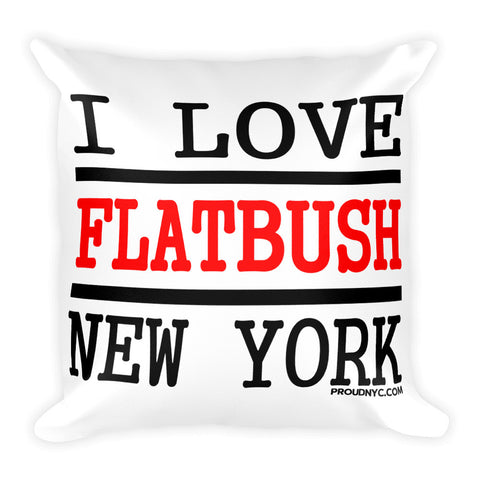 Flatbush Love Square Pillow