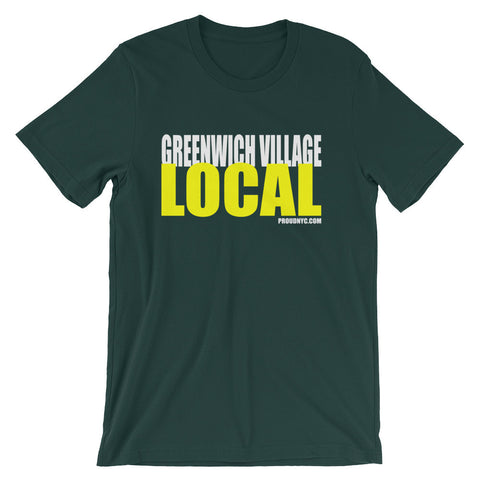 Greenwich Village Local Unisex short sleeve t-shirt
