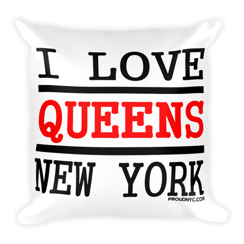 Queens Love Square Pillow