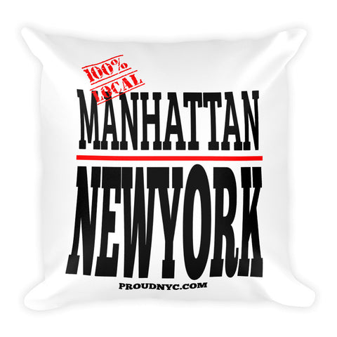 Manhattan Local Square Pillow