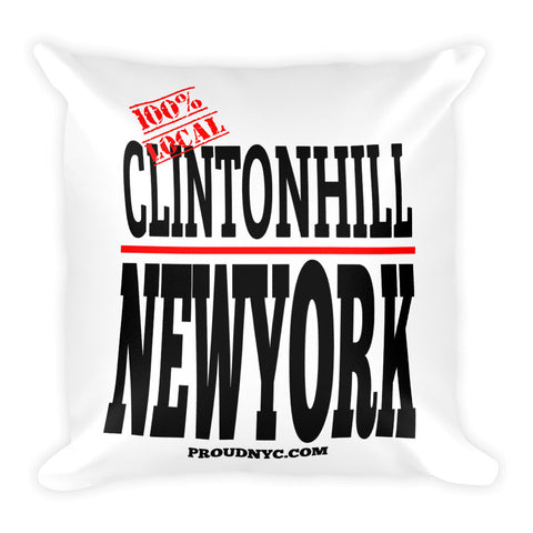 Clinton Hill Local Square Pillow