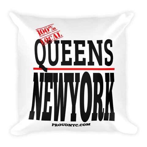 Queens Local Square Pillow
