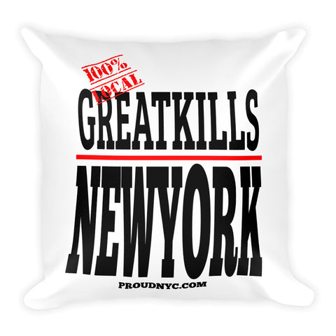 Great Kills Local Square Pillow