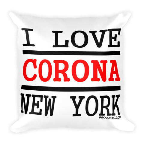 Corona Love Square Pillow