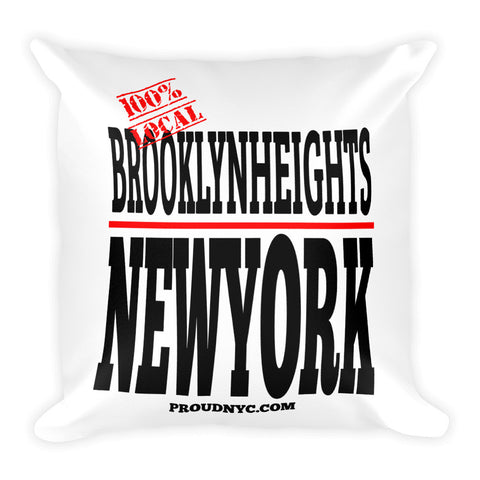 Brooklyn Heights Local Square Pillow