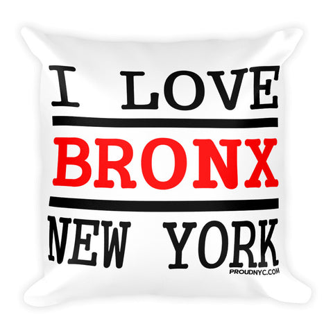 Bronx Love Square Pillow