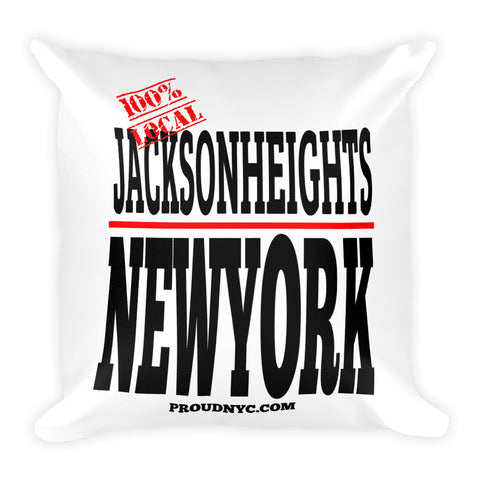 Jackson Heights Local Square Pillow