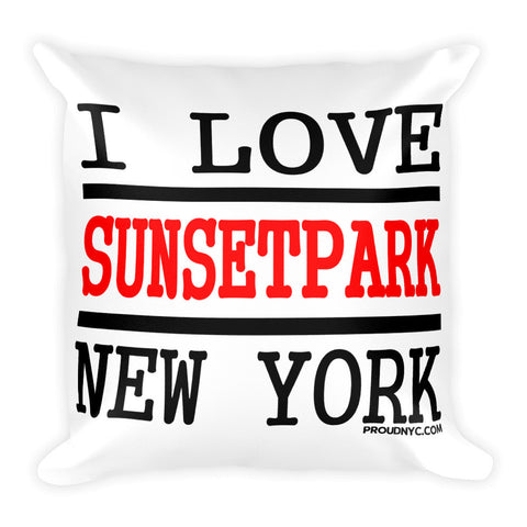 Sunset Park Love Square Pillow