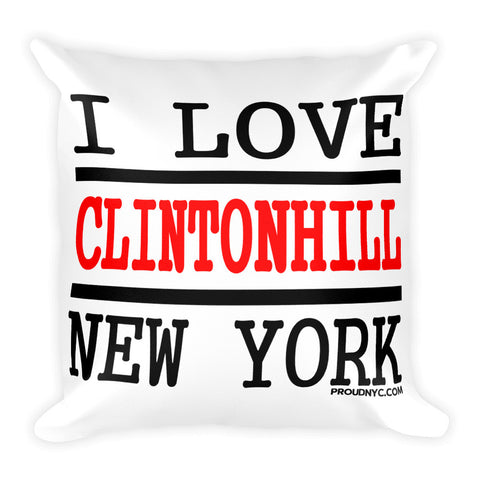 Clinton Hill Love Square Pillow