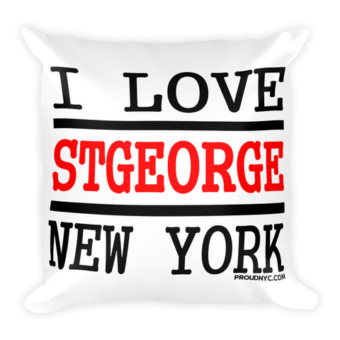 St George Love Square Pillow