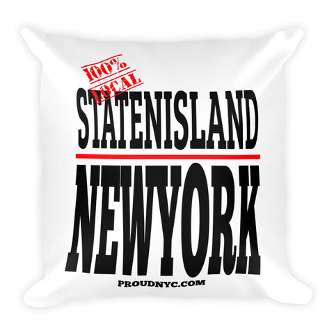 Staten Island Local Square Pillow