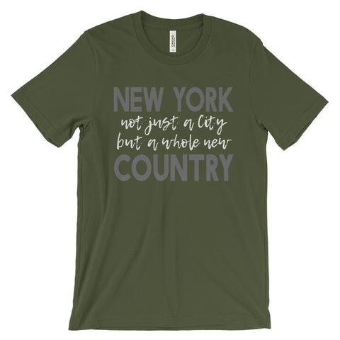 New York Country Unisex short sleeve t-shirt