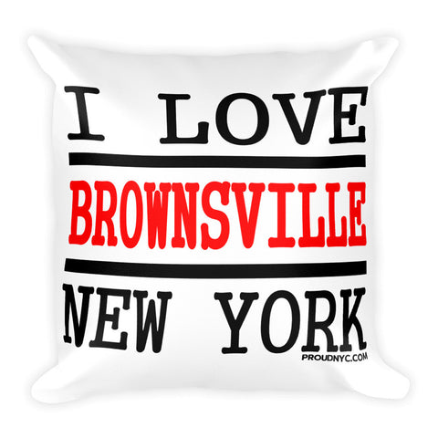 Brownsville Love Square Pillow