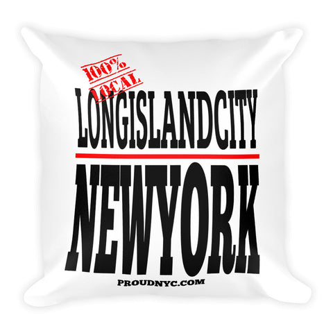 Long Island City Local Square Pillow