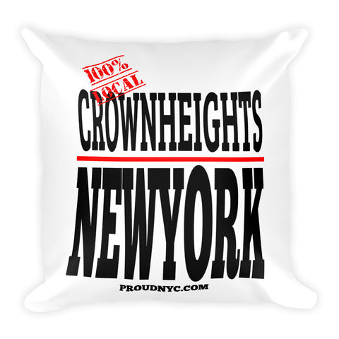Crown Heights Local Square Pillow