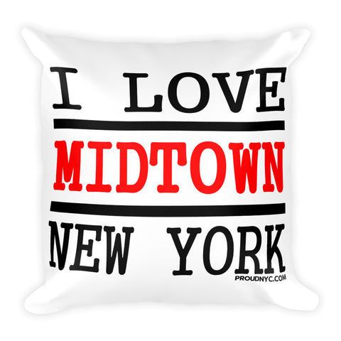 Midtown Love Square Pillow