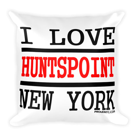 Hunts Point Love Square Pillow