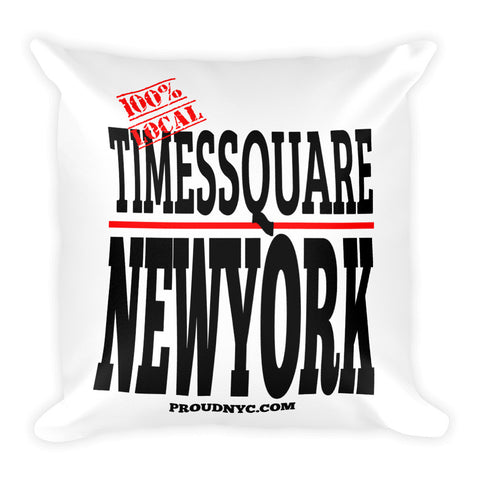 Times Square Local Square Pillow