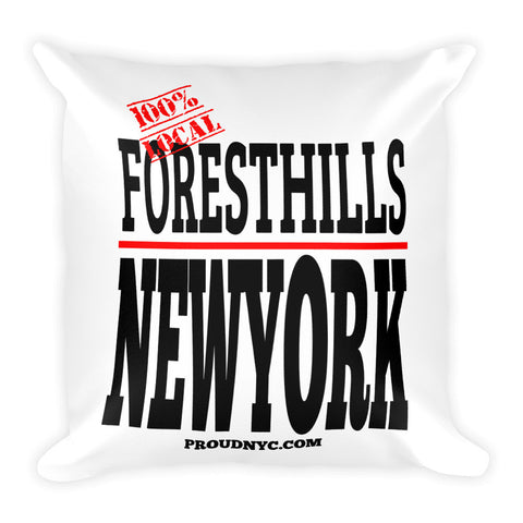 Forest Hills Local Square Pillow