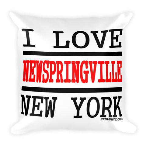 New Springville Love Square Pillow