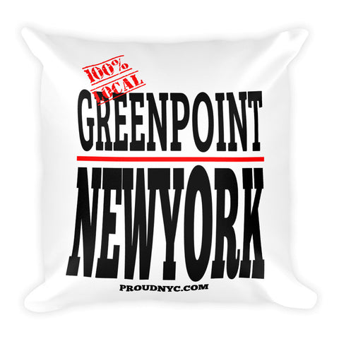 Greenpoint Local Square Pillow