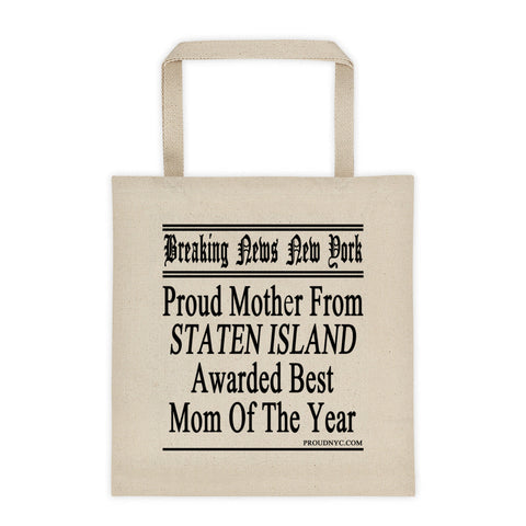 Staten Island Best Mom Tote bag