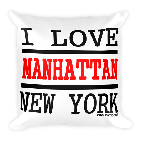 Manhattan Love Square Pillow