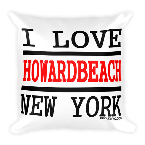 Howard Beach Love Square Pillow