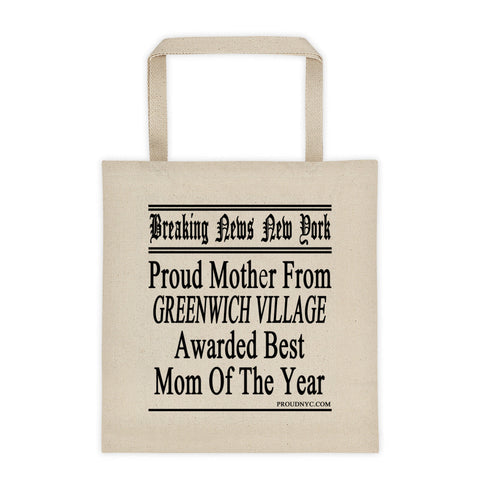 Greenwich Village Best Mom Tote bag