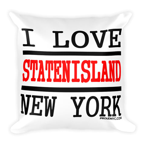 Staten Island Love Square Pillow