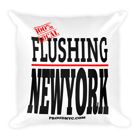 Flushing Local Square Pillow