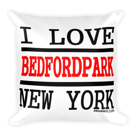 Bedford Park Love Square Pillow
