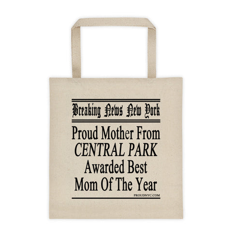 Central Park Best Mom Tote bag