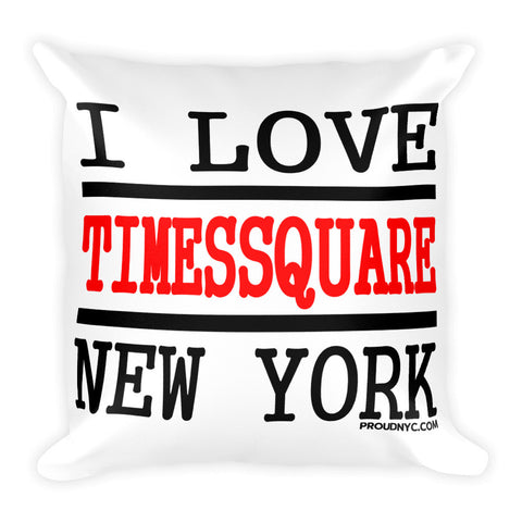 Times Square Love Square Pillow
